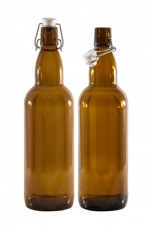 Бутыль 0.75 л (темное стекло, бугельная крышка, 12 шт.)