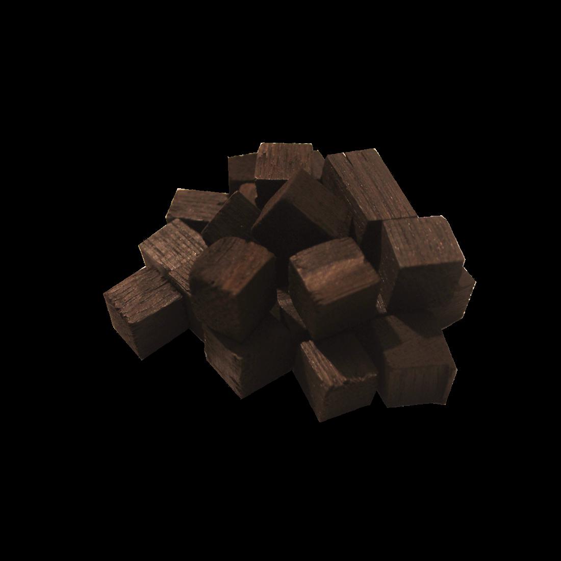 Дубовые кубики (сильный обжиг) 1 кг