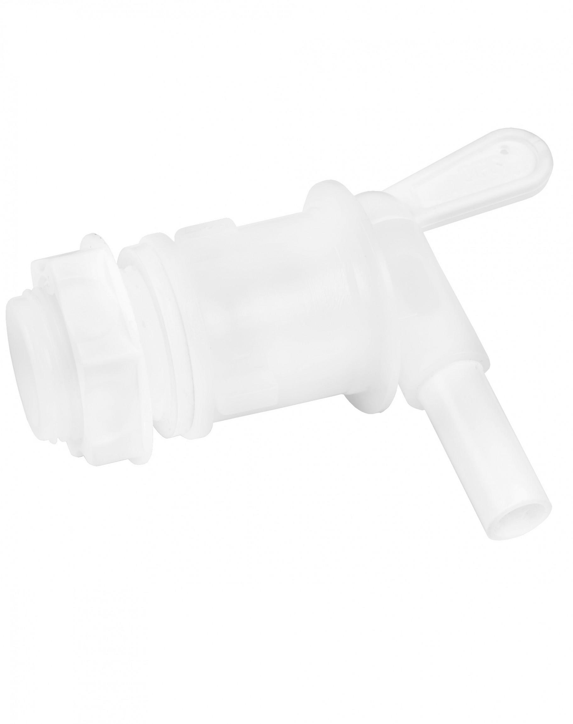 Пластиковый кран для емкости белый поворотный